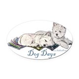 Do Not disturb 12x5.png 2.png Oval Car Magnet