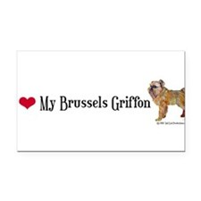 Brussels Heart shirt form .png Rectangle Car Magne