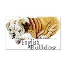 English Bulldogs Rectangle Car Magnet