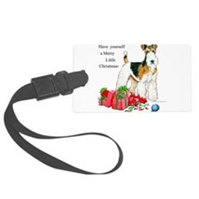 Merry Little Christmas 11x11.png Large Luggage Tag