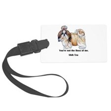 Shih Tzu is Boss Luggage Tag