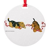 Cute Lakeland terrier Round Ornament