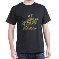 Fab Sister, Swirls and Leaves. T-Shirt
