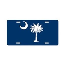 SC Palmetto Flag Aluminum License Plate