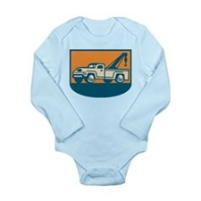 Vintage Tow Wrecker Pick-up Truck Long Sleeve Infa