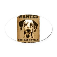 17-Wanted _V2.png Oval Car Magnet