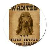23-Wanted _V2.png Round Car Magnet