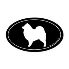 Samoyed Oval Car Magnet