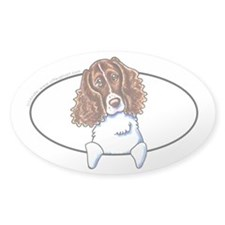 Springer Spaniel Peeking Bumper Decal