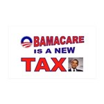 OBAMACARE TAX.jpg 35x21 Wall Decal