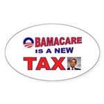 OBAMACARE TAX.jpg Sticker (Oval 10 pk)