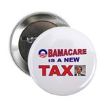 "OBAMACARE TAX.jpg 2.25"" Button (10 pack)"