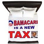 OBAMACARE TAX.jpg King Duvet