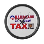 OBAMACARE TAX.jpg Large Wall Clock