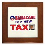 OBAMACARE TAX.jpg Framed Tile
