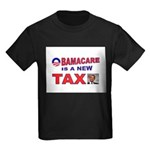 OBAMACARE TAX.jpg Kids Dark T-Shirt