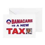 OBAMACARE TAX.jpg Greeting Card