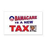 OBAMACARE TAX.jpg 20x12 Wall Decal