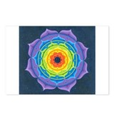 Rainbow Lotus Mandala Postcards (Package of 8)