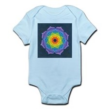 Rainbow Lotus Mandala Infant Bodysuit