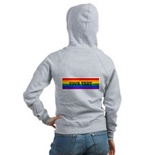Personalize Rainbow Zip Hoodie