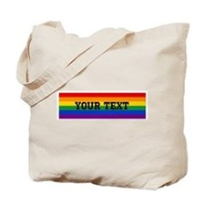 Personalize Rainbow Tote Bag