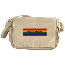 Personalize Rainbow Messenger Bag