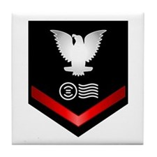 Navy PO3 Postal Clerk Tile Coaster