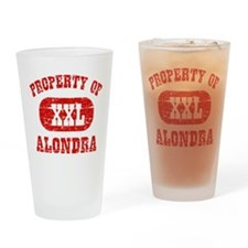 Property Of Alondra Drinking Glass