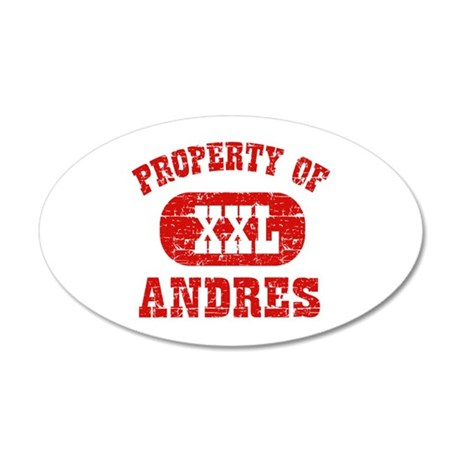 Property Of Andres 35x21 Oval Wall Decal
