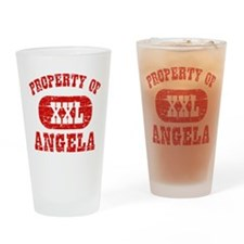 Property Of Angela Drinking Glass