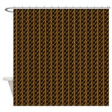 Gold Lightning Look Shower Curtain