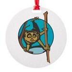 lemur circle copy.jpg Round Ornament