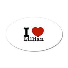 I Love Lillian 20x12 Oval Wall Decal