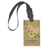 Large Luggage Tag &amp;quot;Paw Prints on our Hearts&amp;q