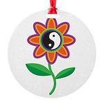 yinyangflower.jpg Round Ornament
