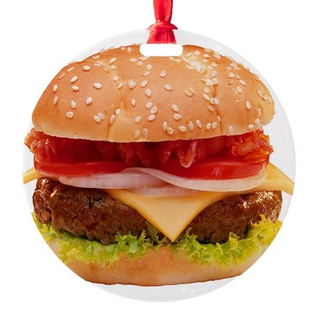 Cheeseburger Round Ornament