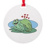 frogs in love copy.jpg Round Ornament