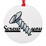 screw2.psd Round Ornament