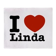 I Love Linda Throw Blanket