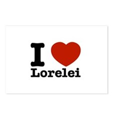 I Love Lorelei Postcards (Package of 8)