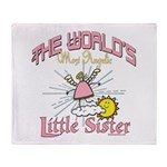 Angelic Little Sister Throw Blanket