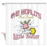 Angelic Little Sister Shower Curtain