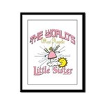 Angelic Little Sister Framed Panel Print