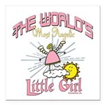 Angelic Little Girl Square Car Magnet 3