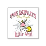 Angelic Little Girl Square Sticker 3