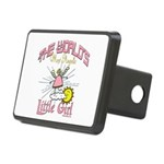 Angelic Little Girl Rectangular Hitch Cover