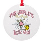 Angelic Little Girl Round Ornament