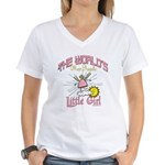 Angelic Little Girl Women's V-Neck T-Shirt