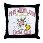 Angelic Little Girl Throw Pillow